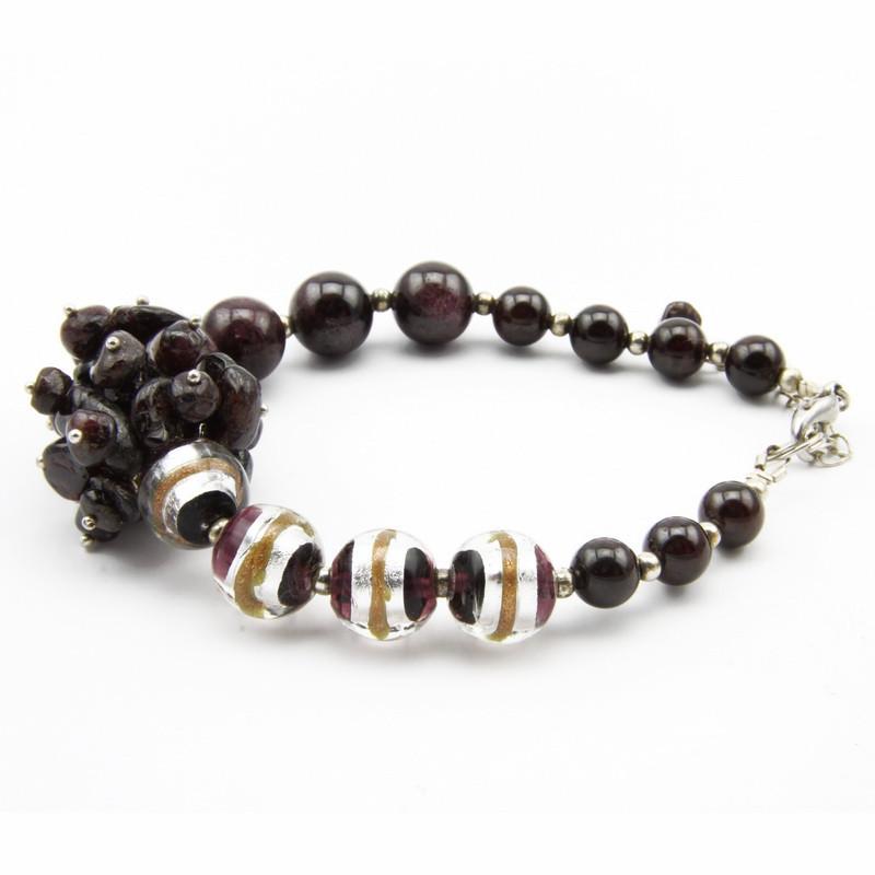 garnet bracelet with dark...