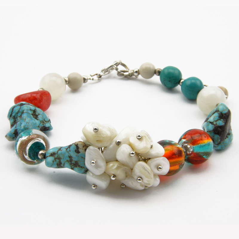 agate and howlite stone...
