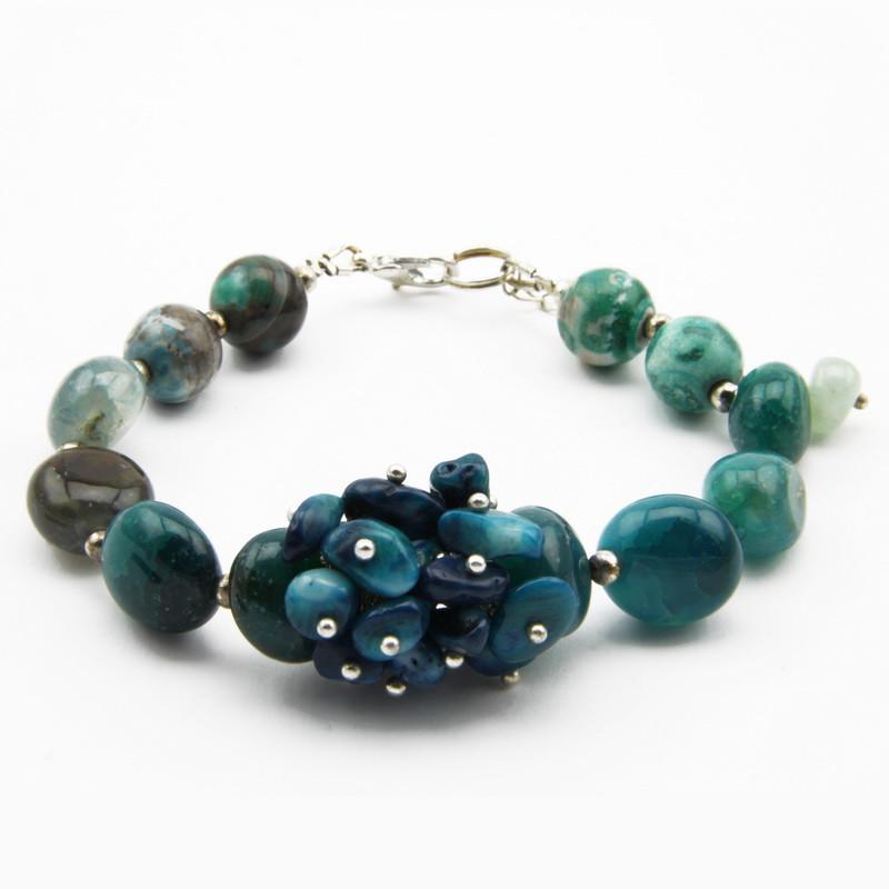 howlite stone bracelet with...