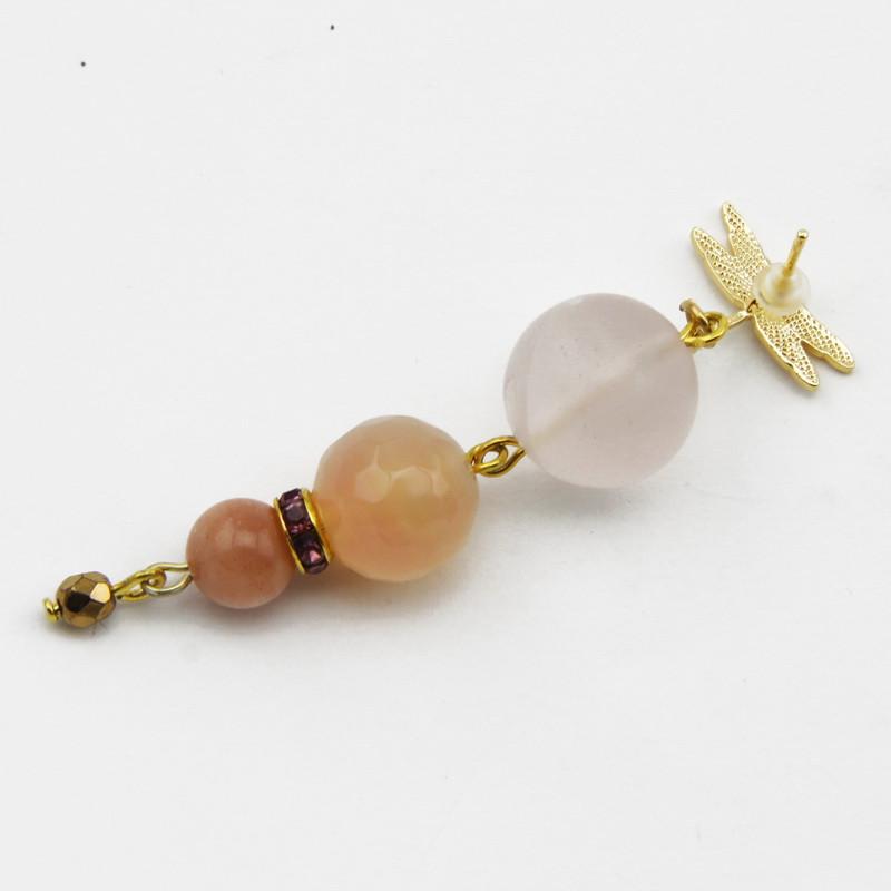 Earrings with Amethyst,...