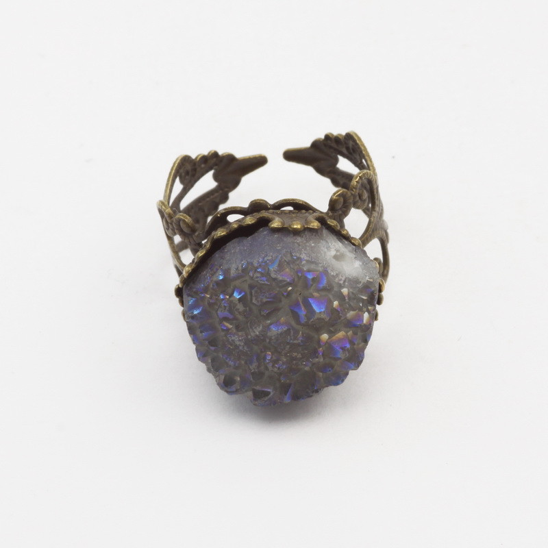 Ring with Light Blue Agate...