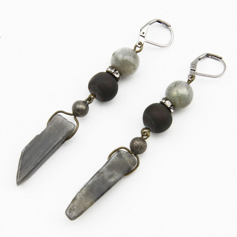Agate Earrings with...