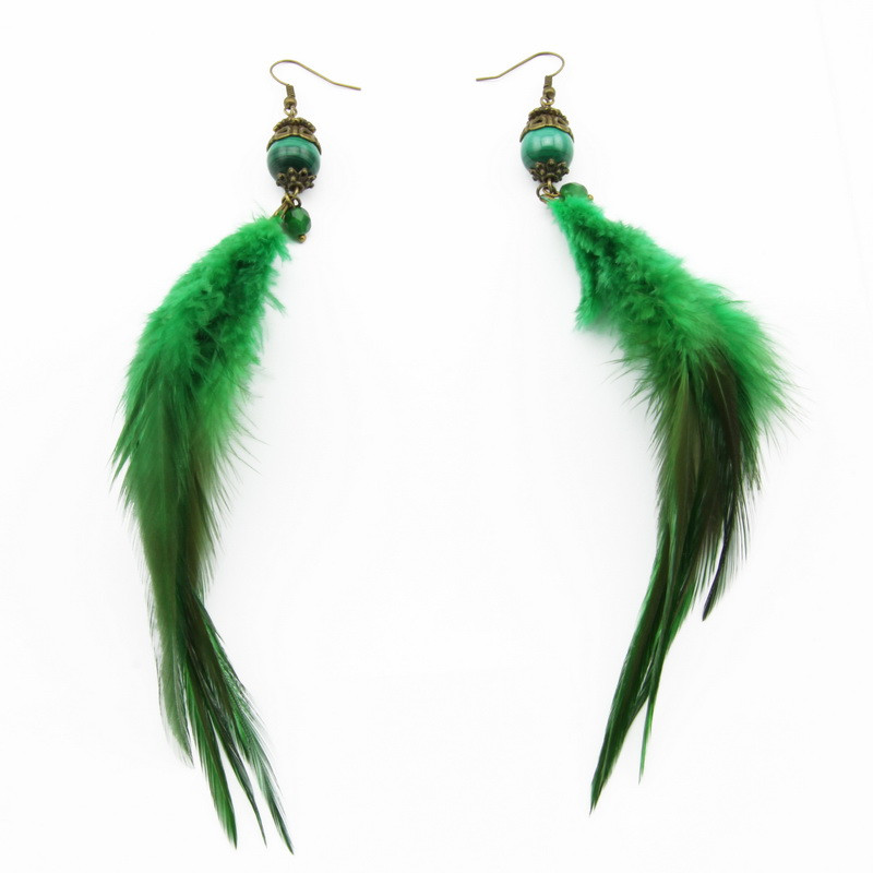 Malachite Earrings with...