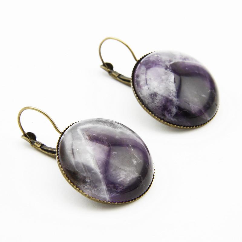 Purple amethyst earring
