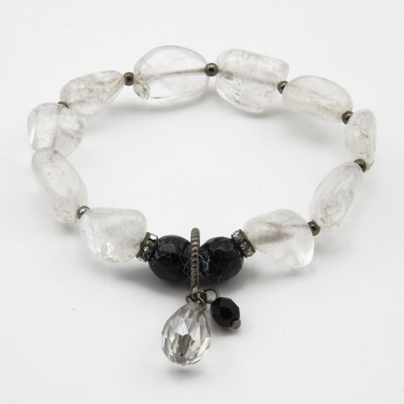 Quartz and agate bracelet...