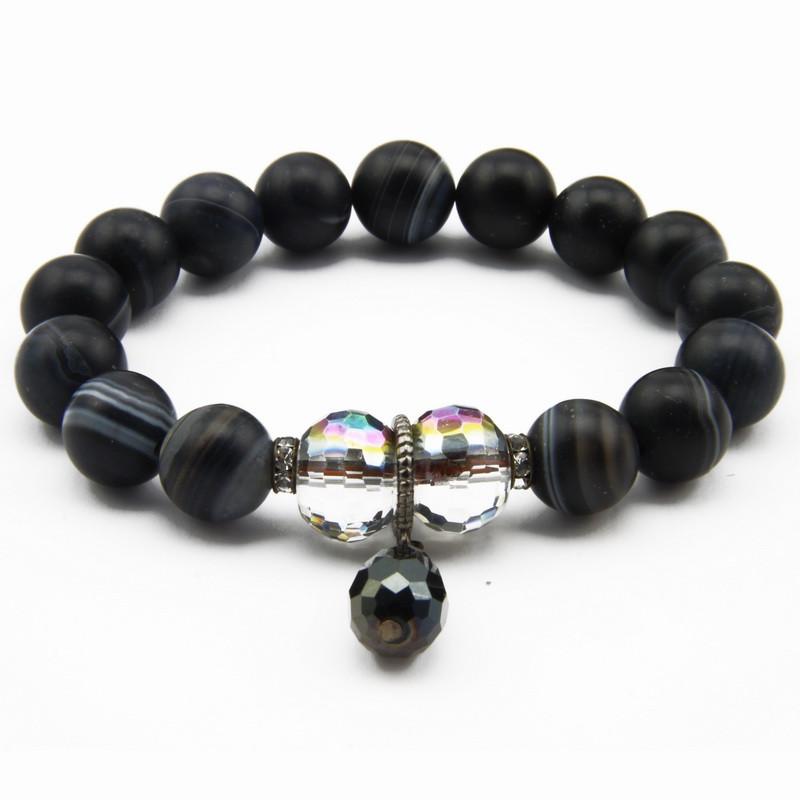 Dark Gray Agate Bracelet...
