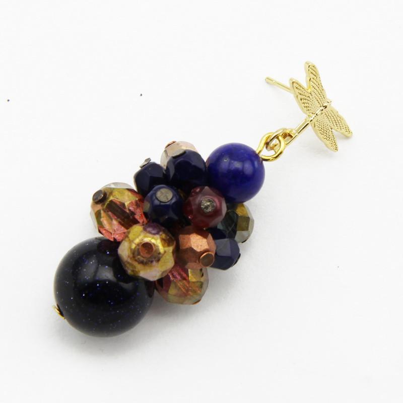 Blue Goldstone Earrings...