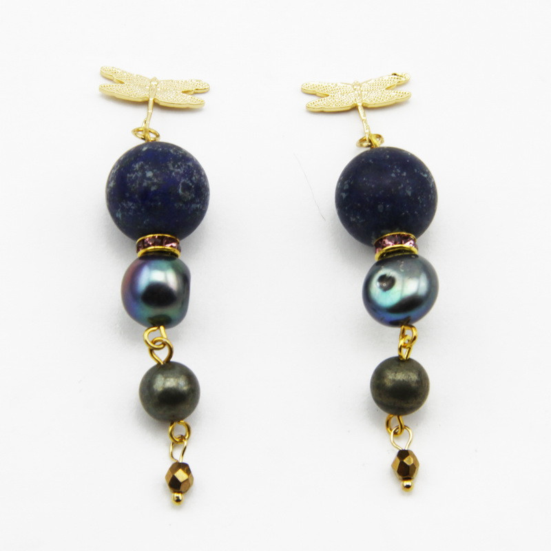 Lazurite Earrings with...