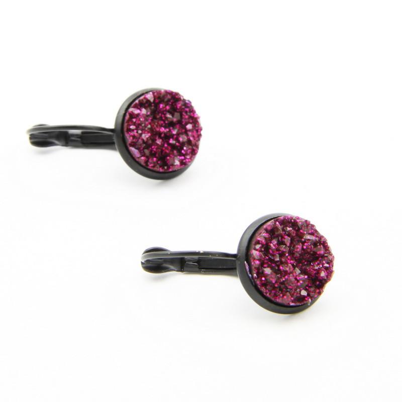 Dark Pink Earrings with...