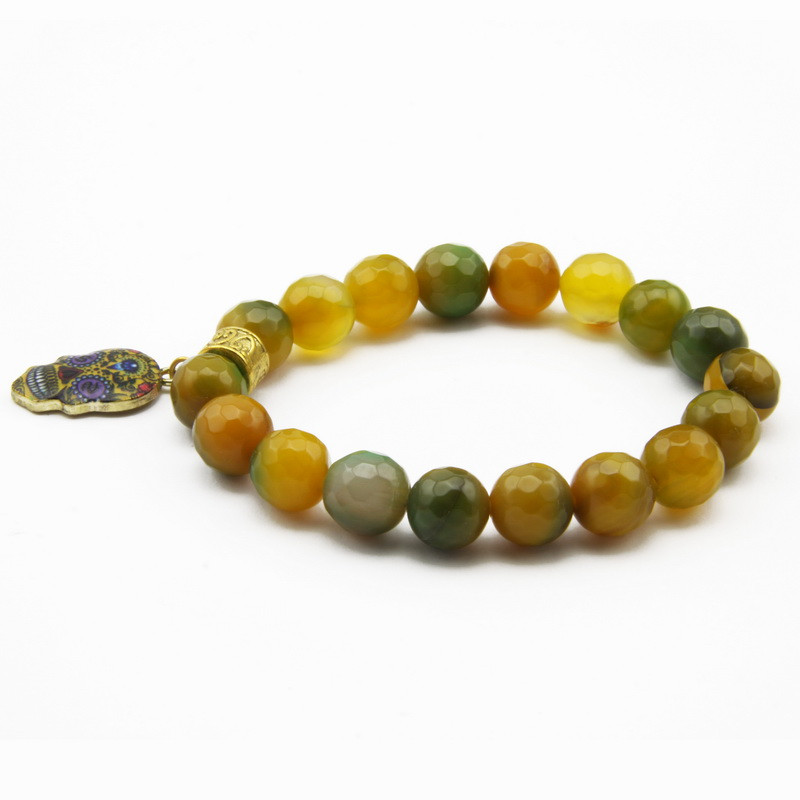 Green-yellow agate elastic...