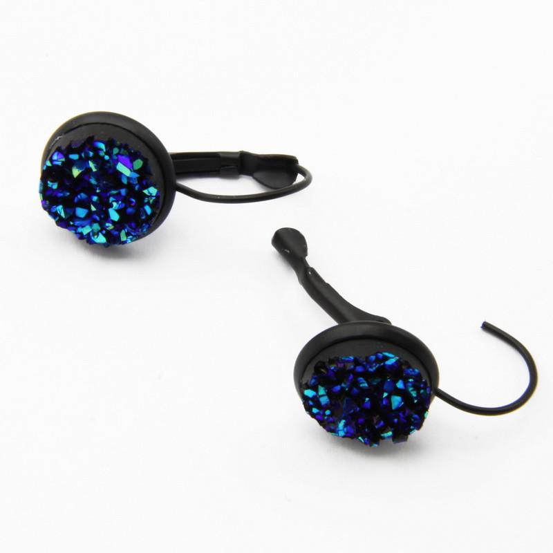 dark blue drusen earrings...