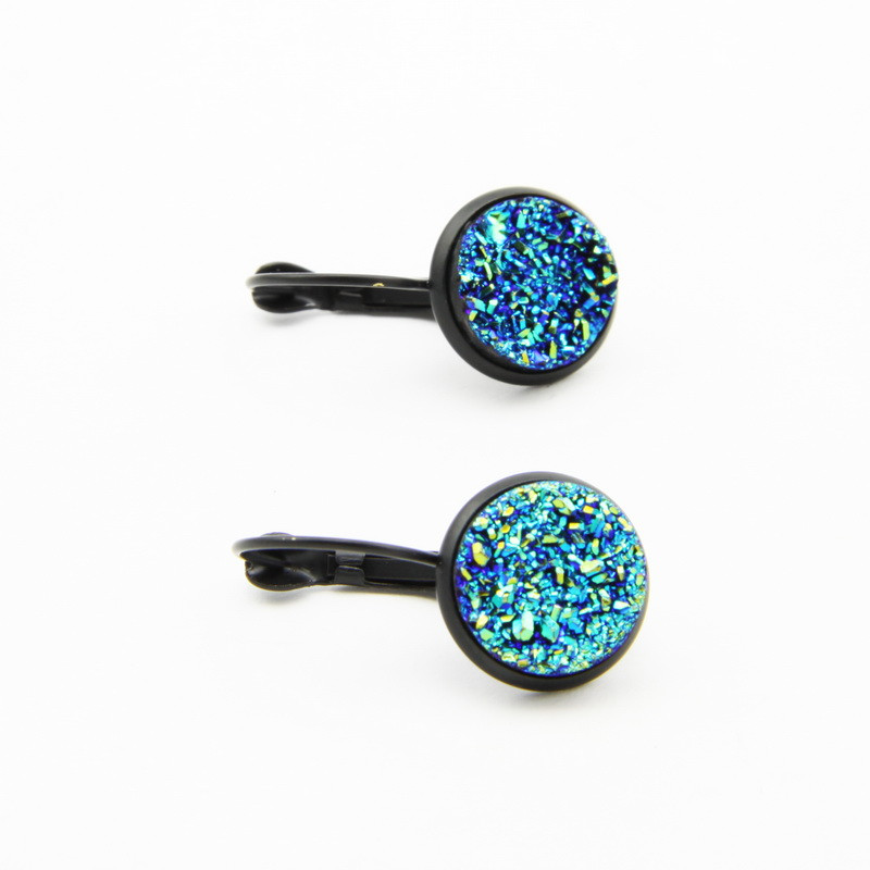Light Blue Druse Earrings...