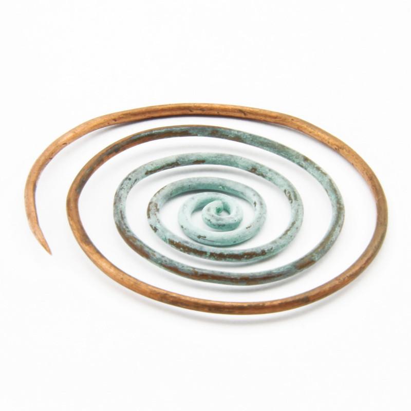 """Brooch """"Swirl"""" in Copper..."""