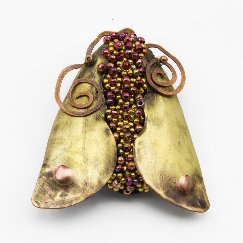 "Brooch ""Fly"" with Copper..."