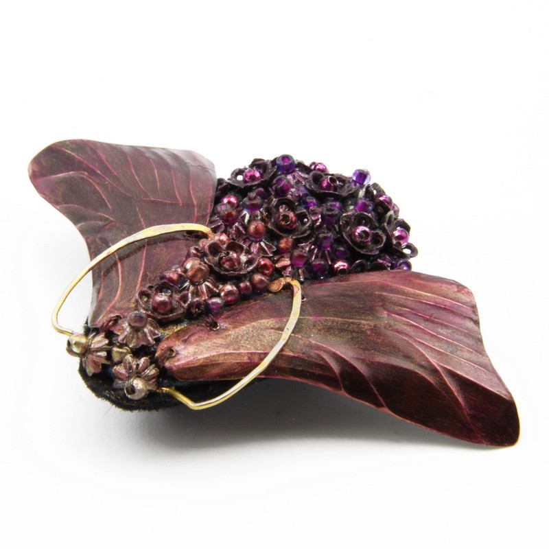 """Brooch """"Fly"""" with Purple..."""
