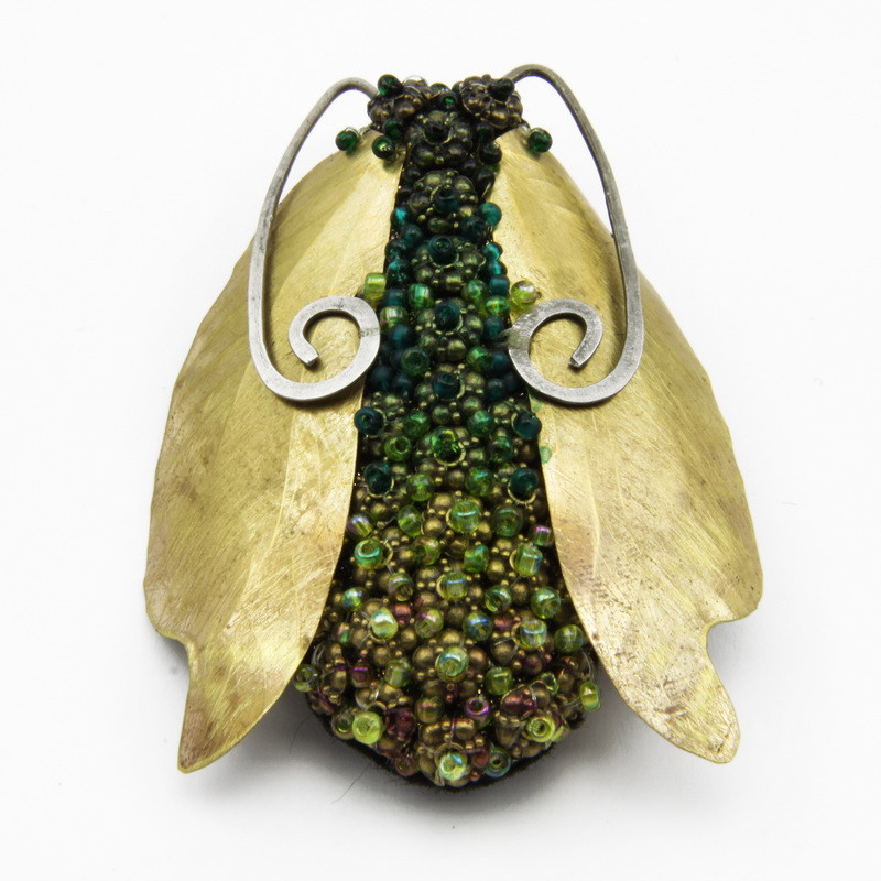 "Brooch ""Fly"" with Gold..."
