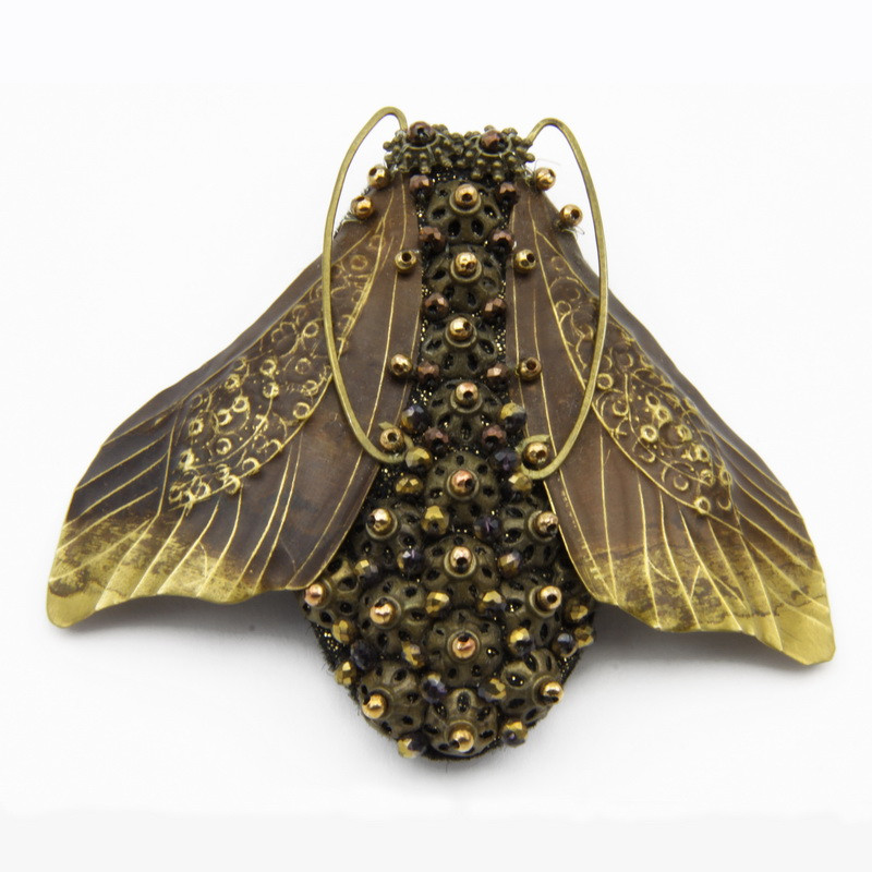 "Brooch ""Fly"" with Bronze..."