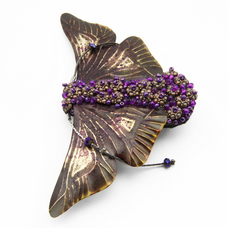 """Brooch """"Fly"""" with Copper..."""