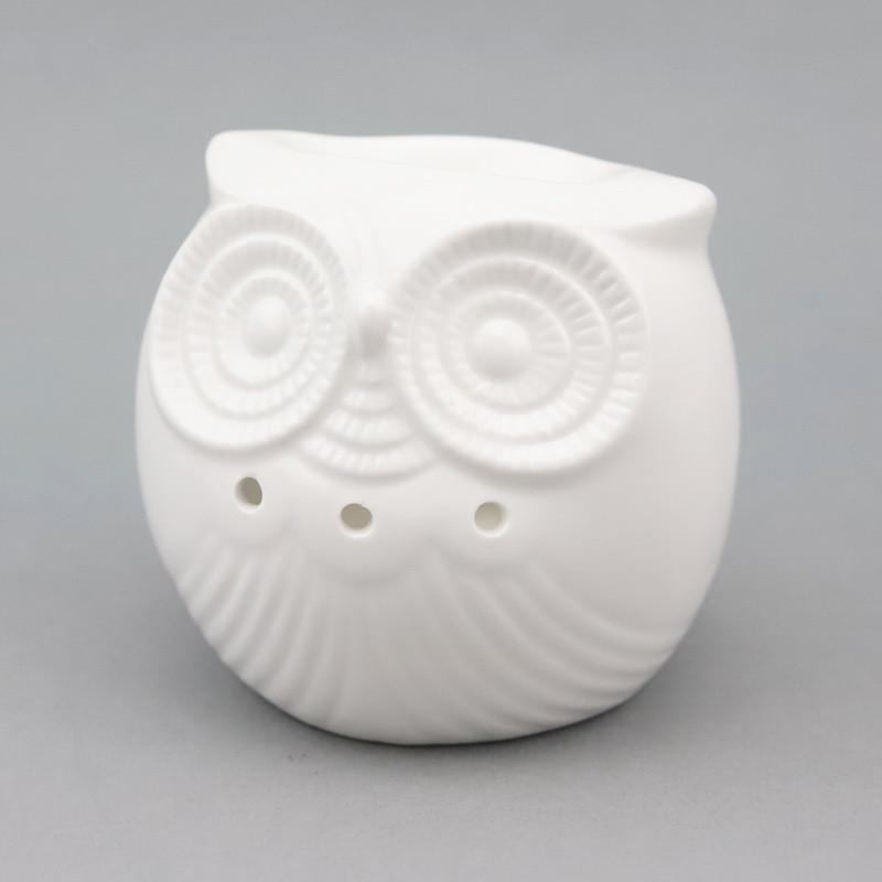 Oil Burner Small Owl (Ceramic)