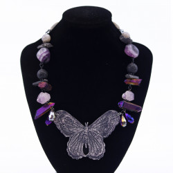 Butterfly Necklace with...
