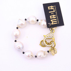 Big White Pearl Bracelet...
