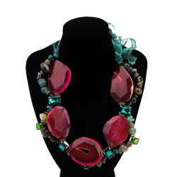 Pink and Green Agate...