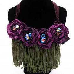 Purple Fabric Flower...