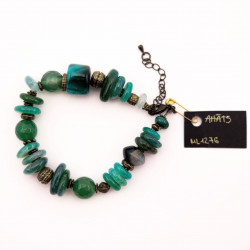 Green Agate Bracelet with...