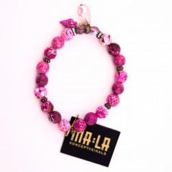 Pink Agate Elastic Bracelet...