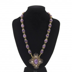 Amethyst Necklace with...