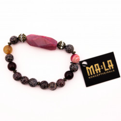 Black and Pink Agate...