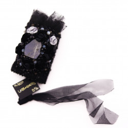 Black Sewed Wristband with...