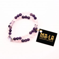 Purple and Pink Agate and...