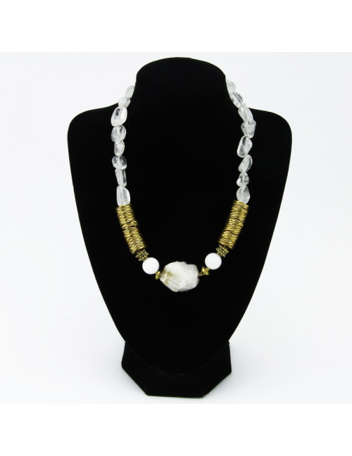 Kaklarota (Labradorīts, saldūdens pērles, čehu stikls)