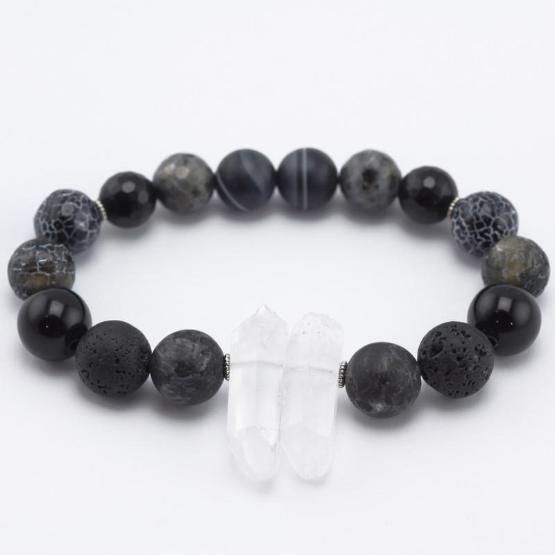 Elastīga rokassprādze (ahāts,amazonīts, opalīts, kalna kristāls, nefrīts)